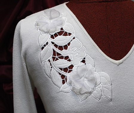 Wild Rose Cutwork Lace - Advanced Embroidery Designs