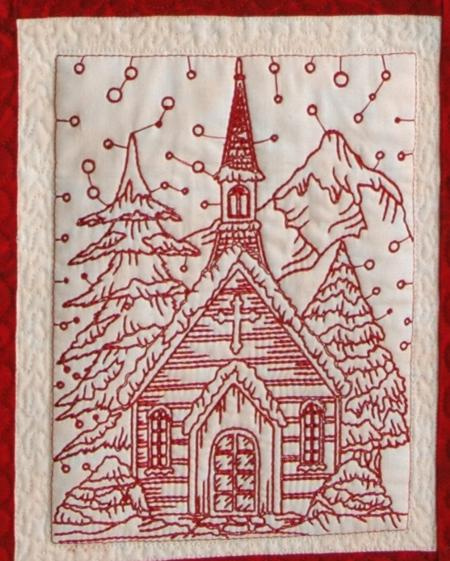 Christmas Eve Wall Quilt Advanced Embroidery Designs