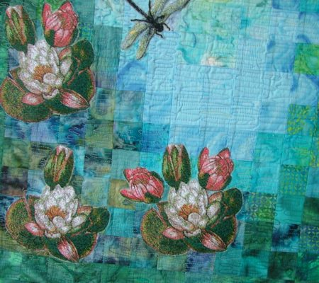 Water Lily Watercolor Quilt Advanced Embroidery Designs