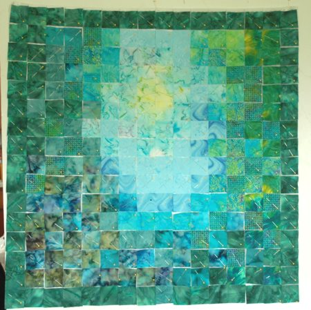 Water Lily Watercolor Quilt - Advanced Embroidery Designs