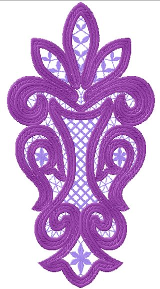 Cutwork lace insert advanced embroidery designs