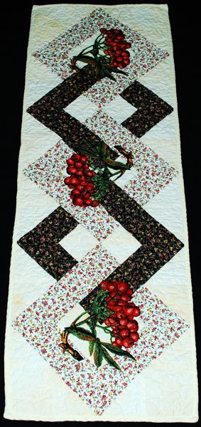 videos with ash  quilted berry table runner embroidery mountain runner and Quilted table Ideas.