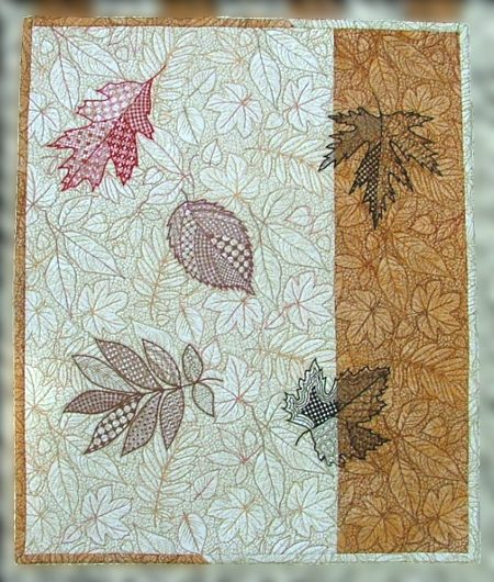 Fall Leaves Wall Hanging Advanced Embroidery Designs