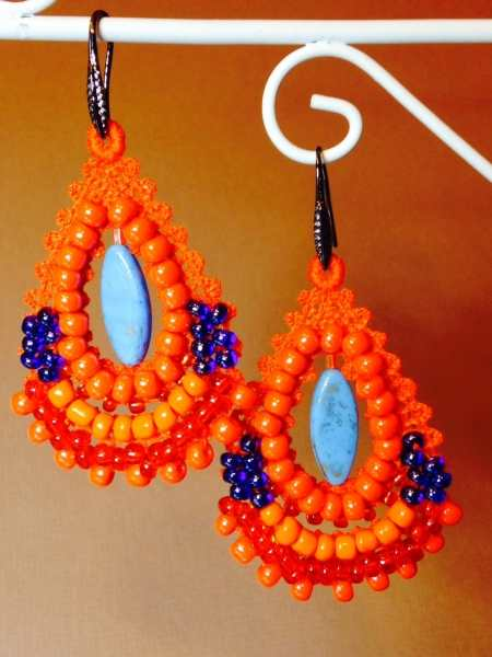 machine embroidery earring designs