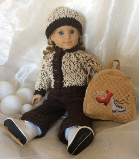 American Girl Doll Ice Skate Backpack Advanced Embroidery Designs