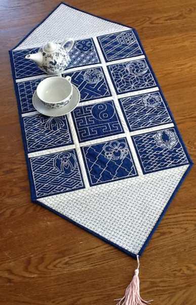 Sashiko Table Runner Advanced Embroidery Designs