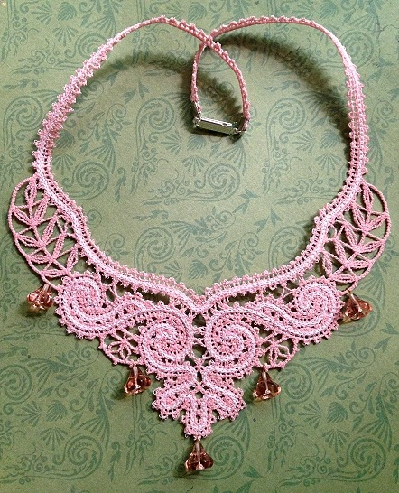 Fsl Battenberg Lace Classical Revival Necklace Advanced