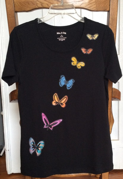 T shirt with butterfly applique advanced embroidery designs