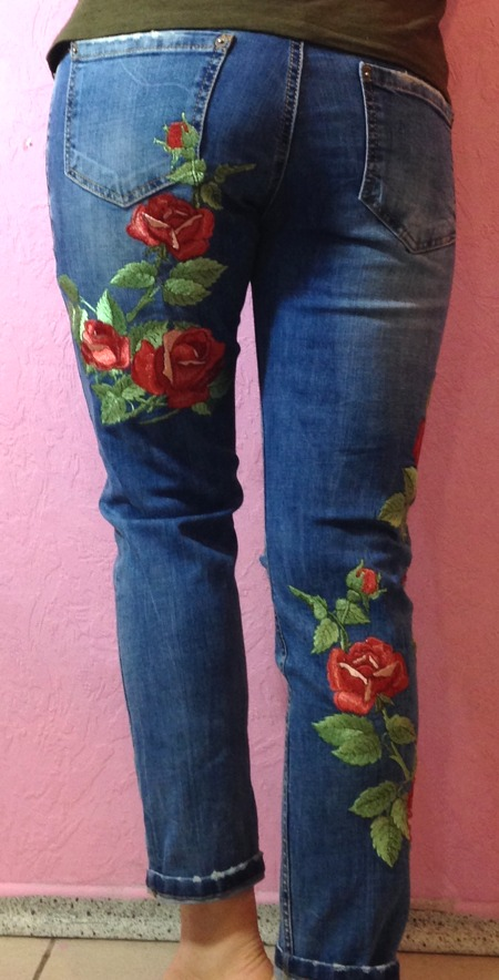 Old Jeans And Blouse Make Over Using Machine Embroidery Advanced