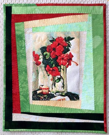 Hibiscus Art Quilt