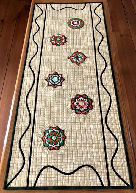 Modern-Style Mandala Table Runner