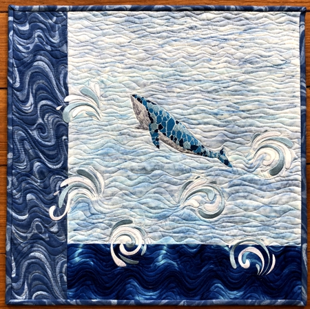Blue Whale Wall Quilt