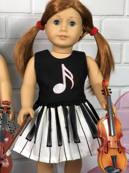 Musical Note Dress for American Girl Doll