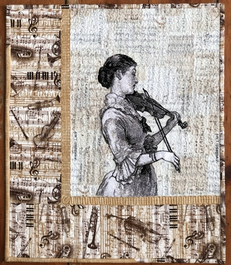 Violinist Wall Quilt