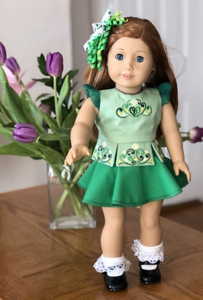 Top for Irish Dance Costume for 18-inch Dolls