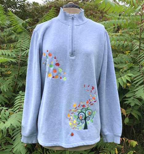 Decorate Your Sweatshirt for Fall with Machine Embroidery