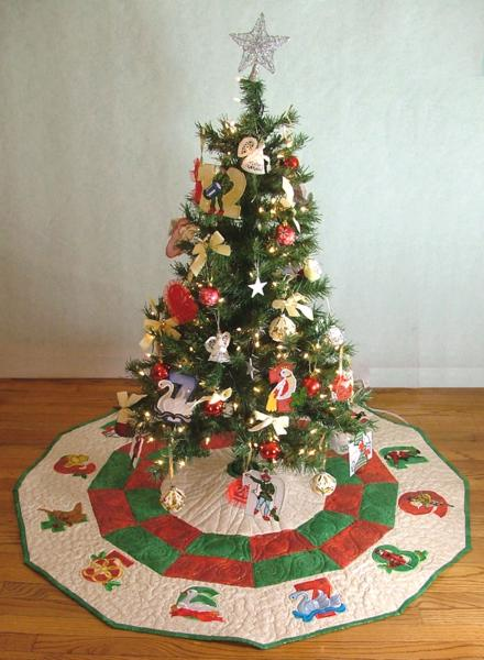 12 Days of Christmas Tree Skirt - Advanced Embroidery Designs