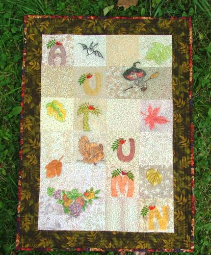 Quilted Autumn Wall Hanging Advanced Embroidery Designs