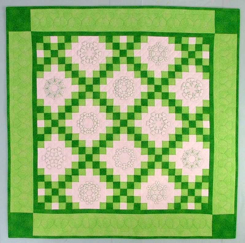 Double Irish Chain Shamrock Quilt - Advanced Embroidery Designs : irish quilt blocks - Adamdwight.com