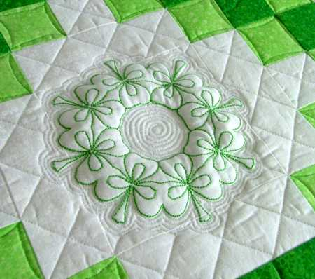 FREE SHAMROCK EMBROIDERY DESIGN