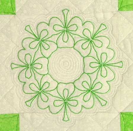 Double Irish Chain Shamrock Quilt Advanced Embroidery Designs
