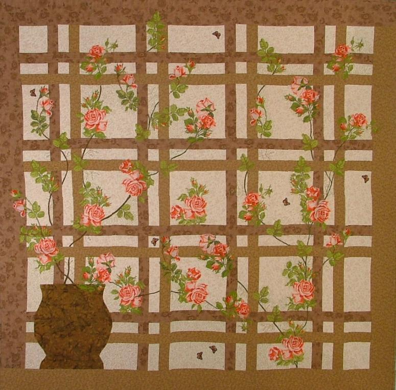 Roses in My Garden Wall Quilt Advanced Embroidery Designs