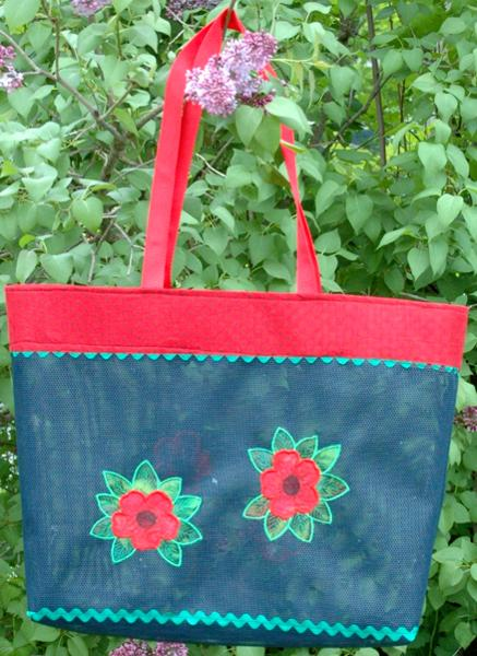 Plastic Mesh Tote Bags With Embroidery Part I - Advanced Embroidery Designs