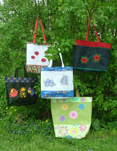 Plastic Mesh Tote Bags with Embroidery Part I - Advanced ...