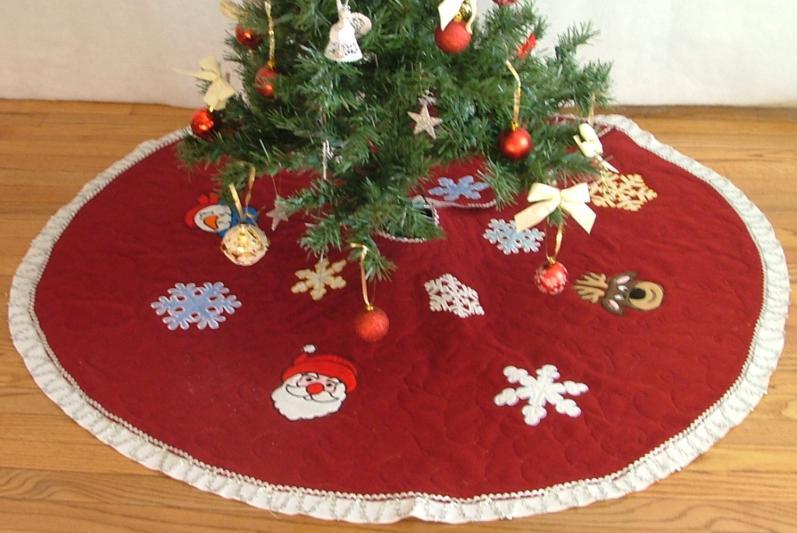 Christmas Felt Tree Skirt With Appliqu 233 Advanced