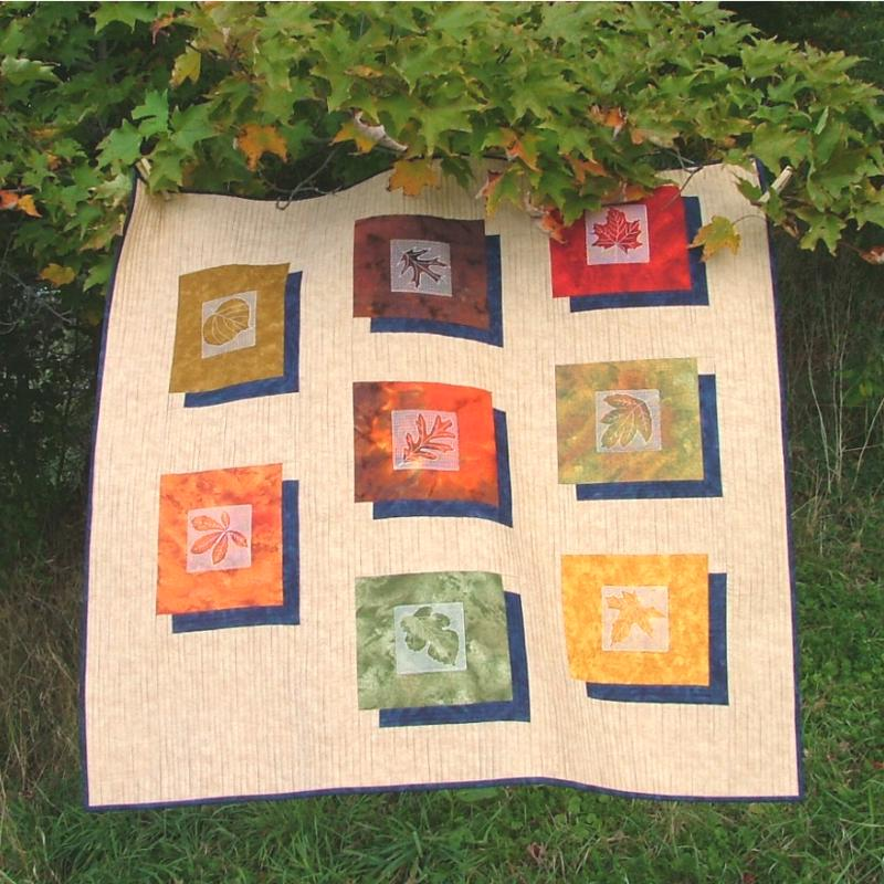 Fall leaves wall quilt advanced embroidery designs