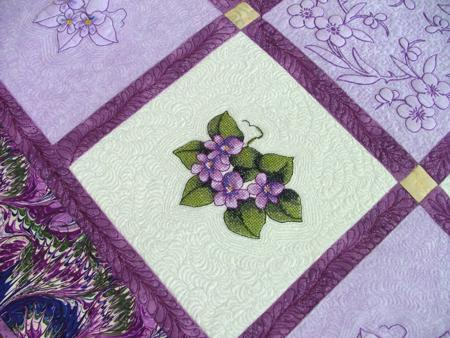 Violets Table Topper Quilt Advanced Embroidery Designs