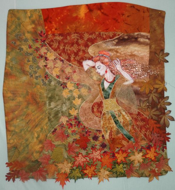 Autumn Wind Art Quilt With Embroidery Advanced
