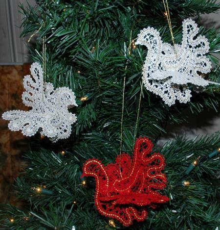 White Dove Christmas Ornaments