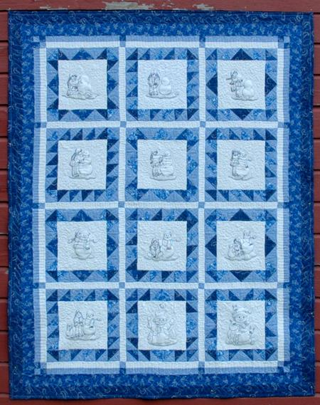 Making A Snowman Quilt For Kids Advanced Embroidery Designs
