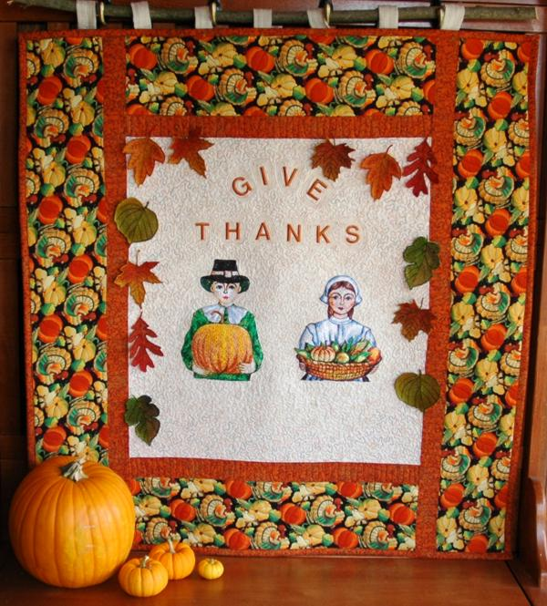 Quot give thanks wall quilt advanced embroidery designs