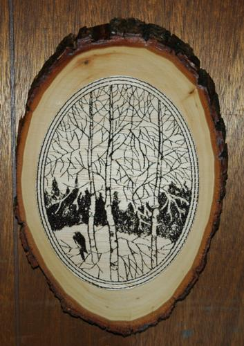 Quot Embroidered Quot Rustic Style Wood Hanging Advanced