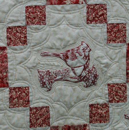 cardinal quilt 4 Best Sewing Machine for Embroidery and Quilting