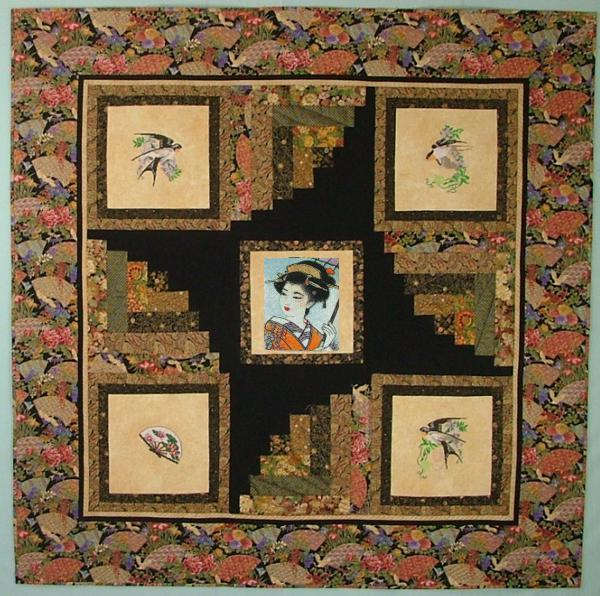 Oriental Impressions Wall Quilt With Embroidery Advanced
