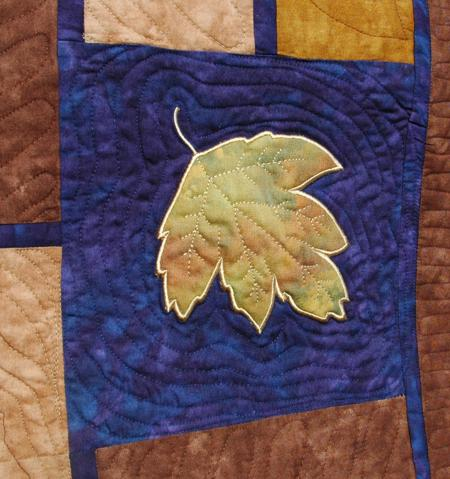 Autumn Leaf Bed Quilt Advanced Embroidery Designs