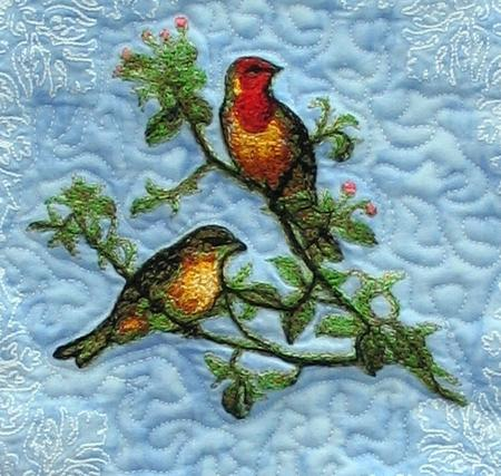Woodland Warbler Wall Hanging Advanced Embroidery Designs