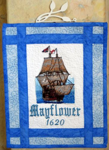 Mayflower Quilted Wallhanging Advanced Embroidery Designs