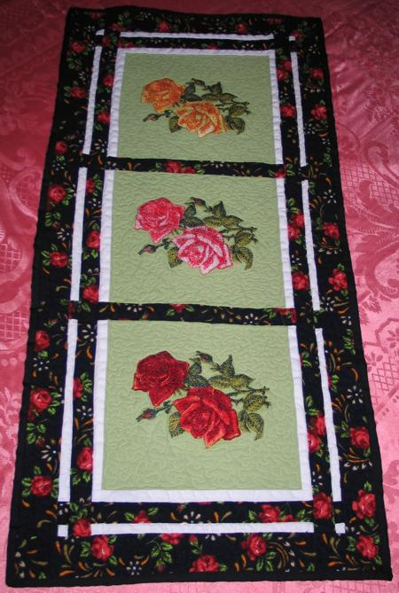 Rose Tablerunner Advanced Embroidery Designs