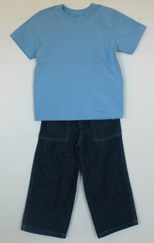 Embroidered t shirt and jeans for a toddler advanced